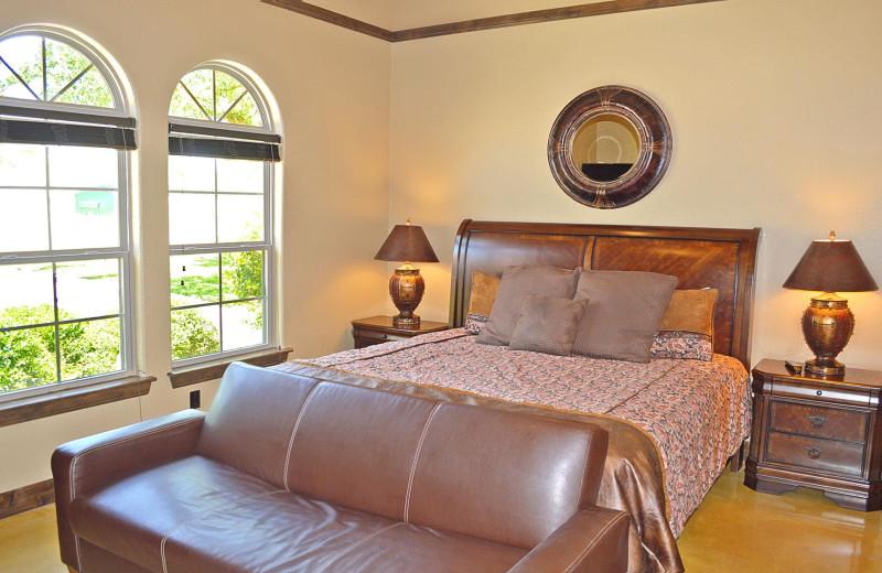 Rental bedroom at Log Country Cove.