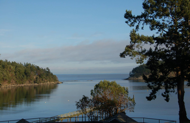 View from Mayne Island Resort and Spa.