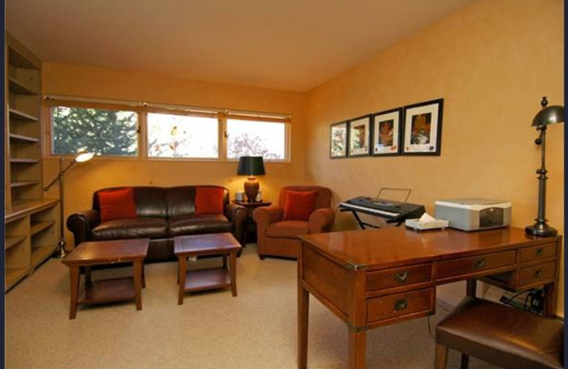 Rental living room at Frias Properties of Aspen - Red Mountain Retreat.