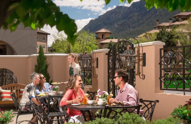 Patio dining at The Broadmoor.