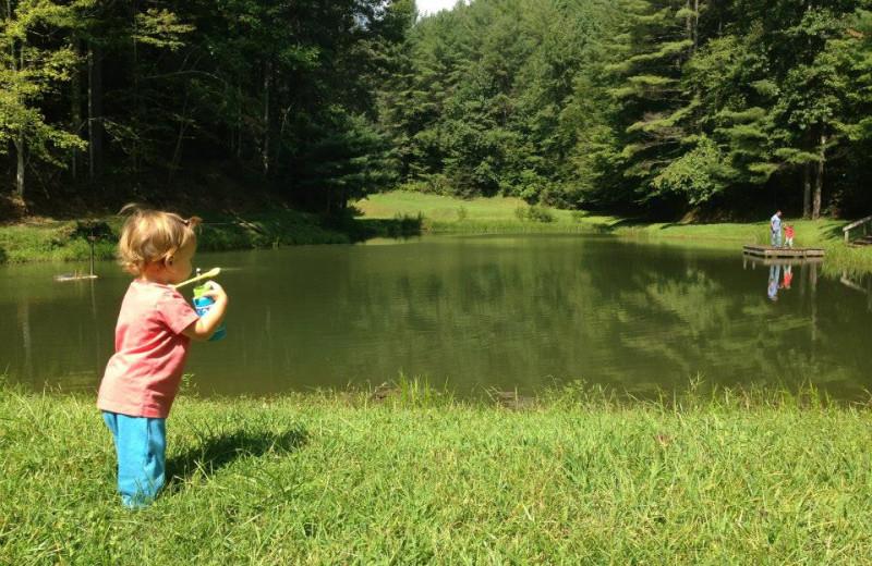 Pond at Leatherwood Mountains Resort.