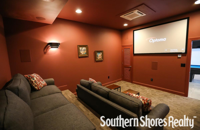 Rental theater at Southern Shores Realty.