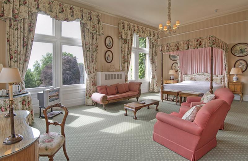 Guest room at Tillmouth Park.