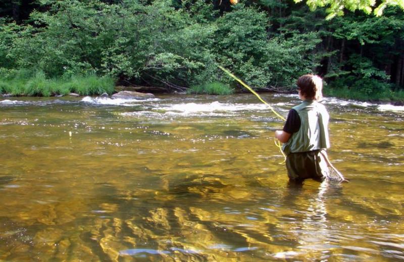 Fishing at Cabins at Lopstick.