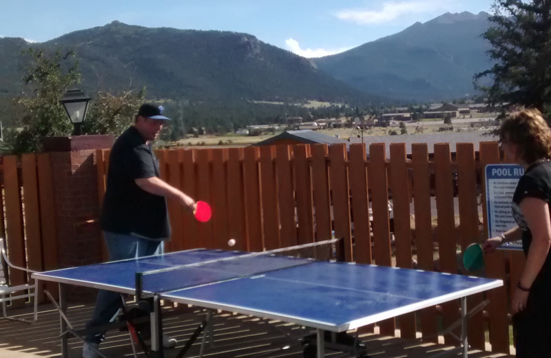 Ping pong table at Murphy's Resort.
