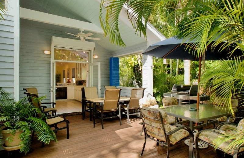 Vacation rental patio at Key West Hideaways.