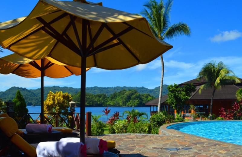 Outdoor pool at Kungkungan Bay Resort.