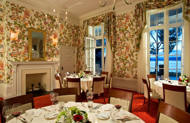 Dining room at The Otesaga Resort Hotel.