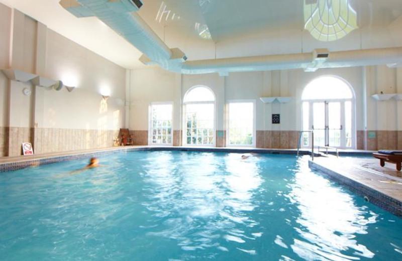 Indoor pool at Village Hotel Club St David's Park.