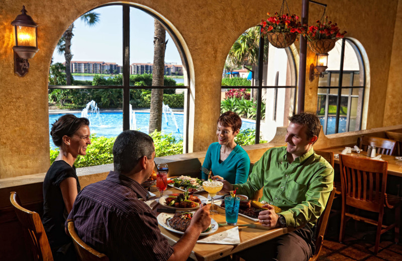 Family dining at Westgate Lakes Resort & Spa.