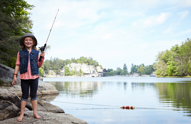 Fishing at Mohonk Mountain House.