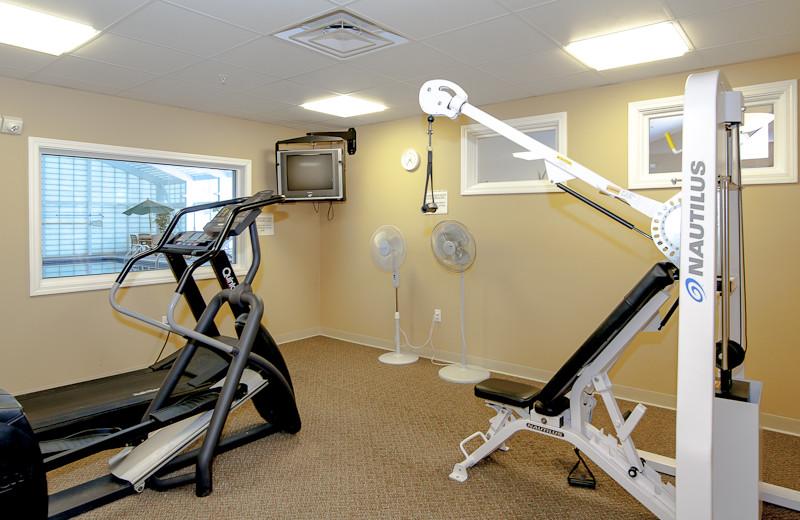 Fitness room at Rivergreen Resort.