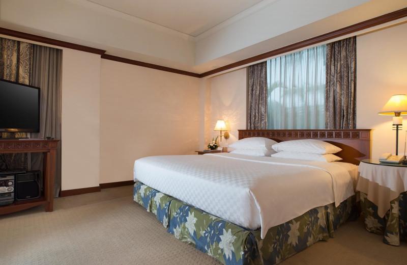 Guest room at Hyatt Regency Yogyakarta.