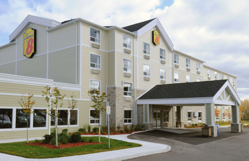 Exterior view of Super 8 Peterborough Hotel.