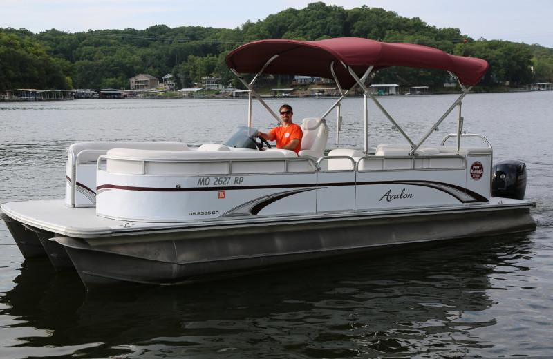 Boating at Point Randall Resort.