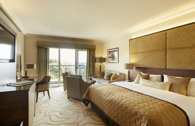 Guest room at The Celtic Manor Resort.