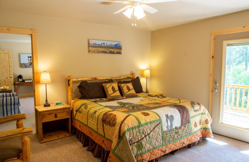 Cabin bedroom at Colorado Trails Ranch.