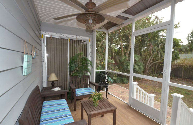 Rental porch at Vanderbilt Vacations.