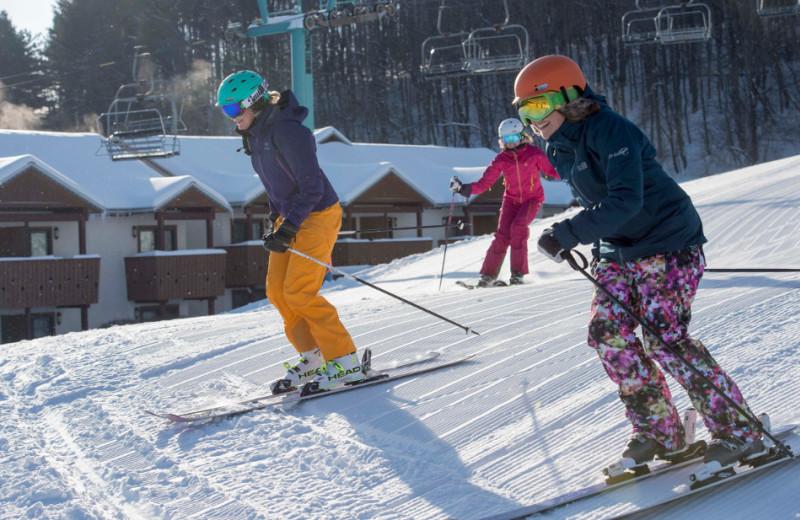 Skiing at Holiday Valley Resort.