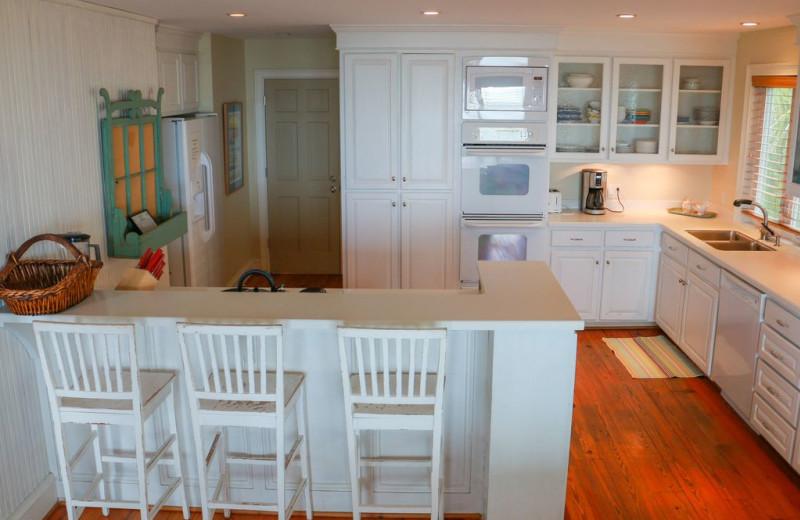 Rental kitchen at East Islands Rentals.