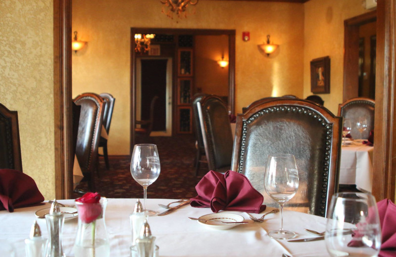 Dining at Whispering Pines Inn.
