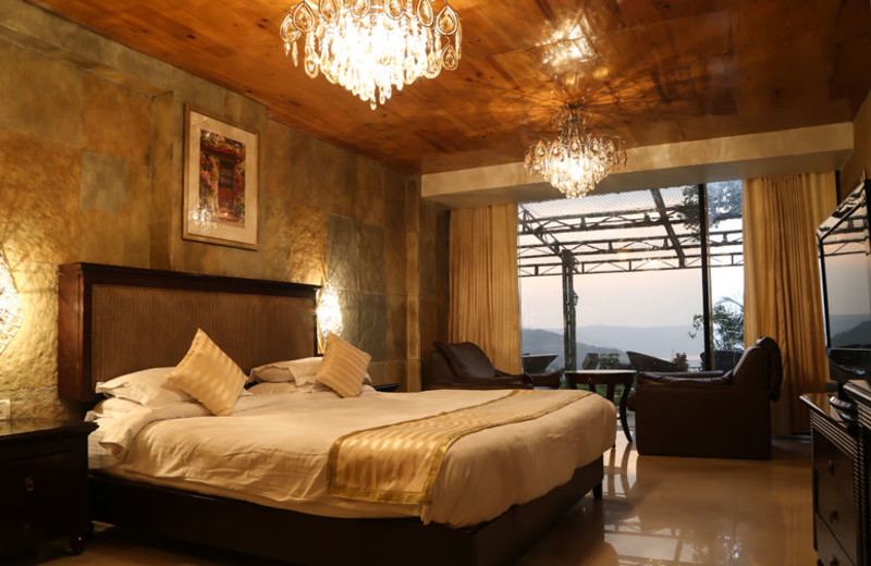 Guest room at The Ravine Hotel.