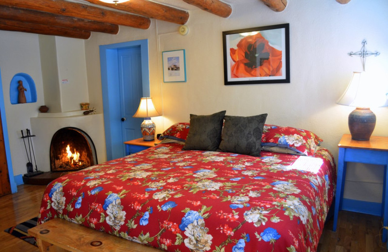 Guest bedroom at Pueblo Bonito.