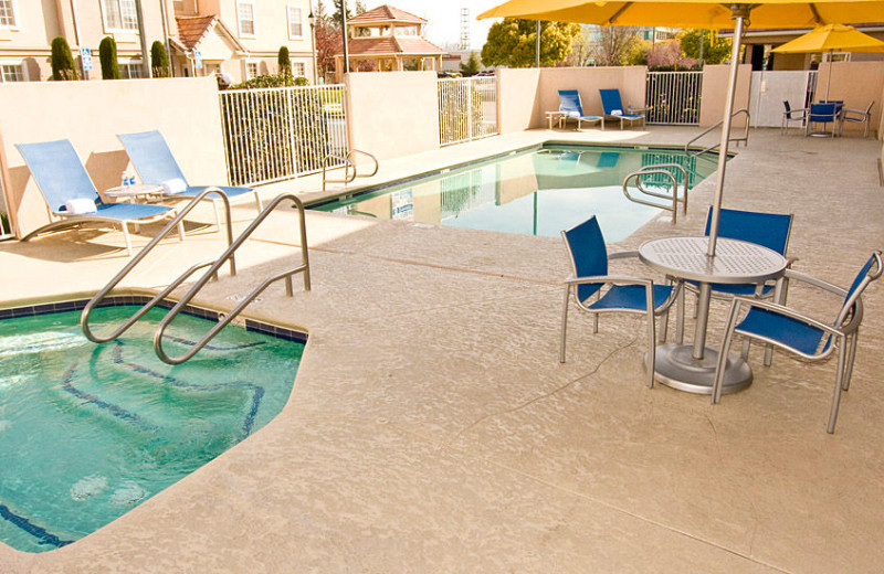 Outdoor pool at TownePlace Suites Fresno.