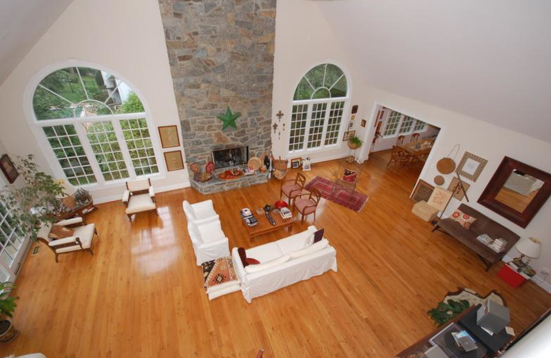 Living room at Stone Manor.