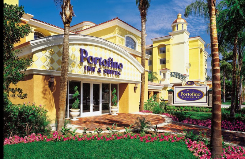 Exterior view of Portofino Inn and Suites.