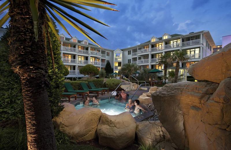 Resort hot tub at Gold Key Resorts.