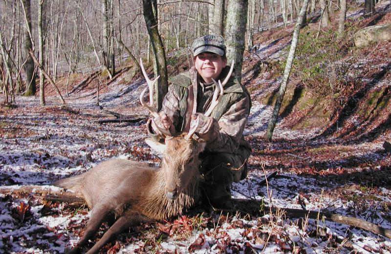 Sika Deer hunting at Caryonah Hunting Lodge.