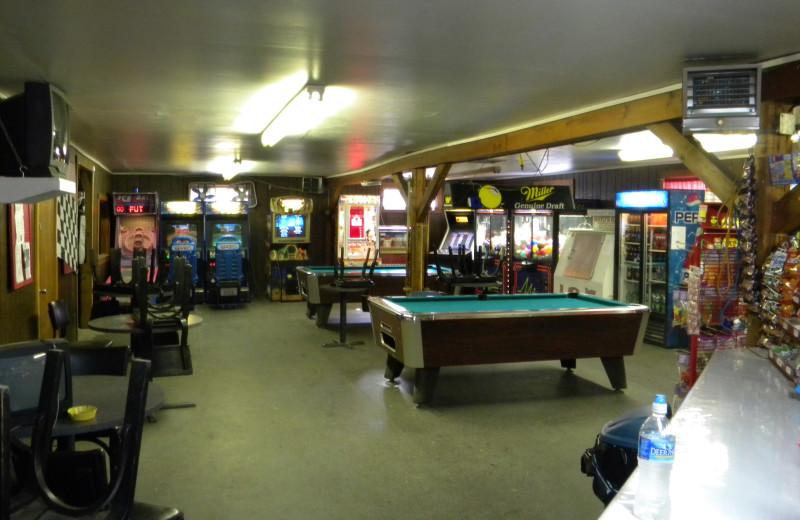 Rec room at Pocono Vacation Park.