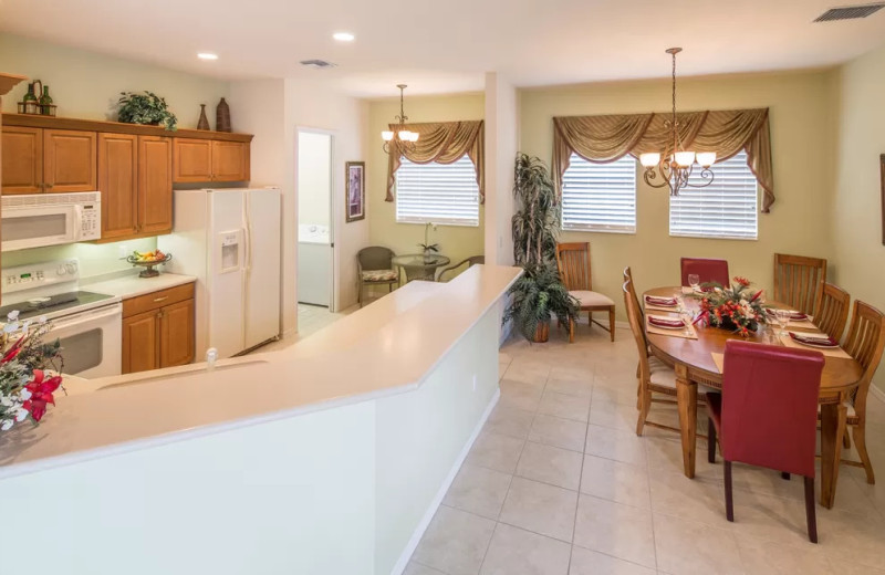 Rental kitchen at CNE Vacation Rental.