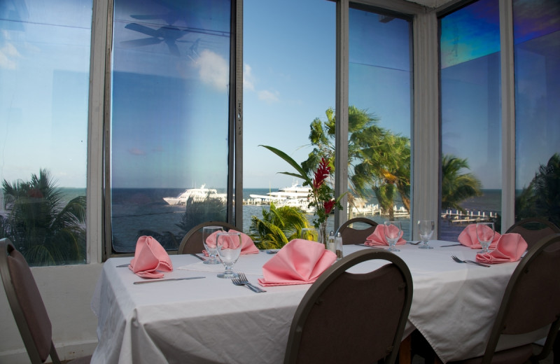 Dining at Chateau Caribbean.