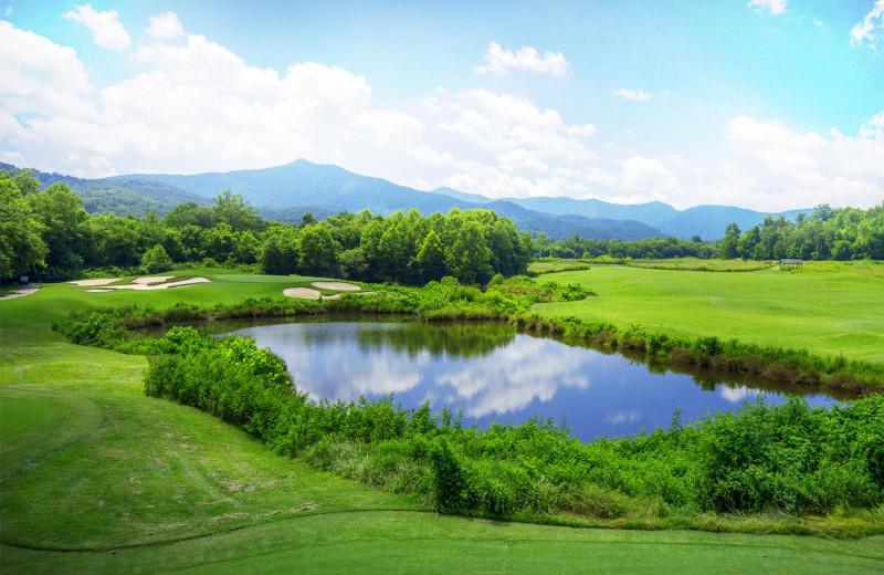 Golf course near Blue Sky Cabin Rentals.