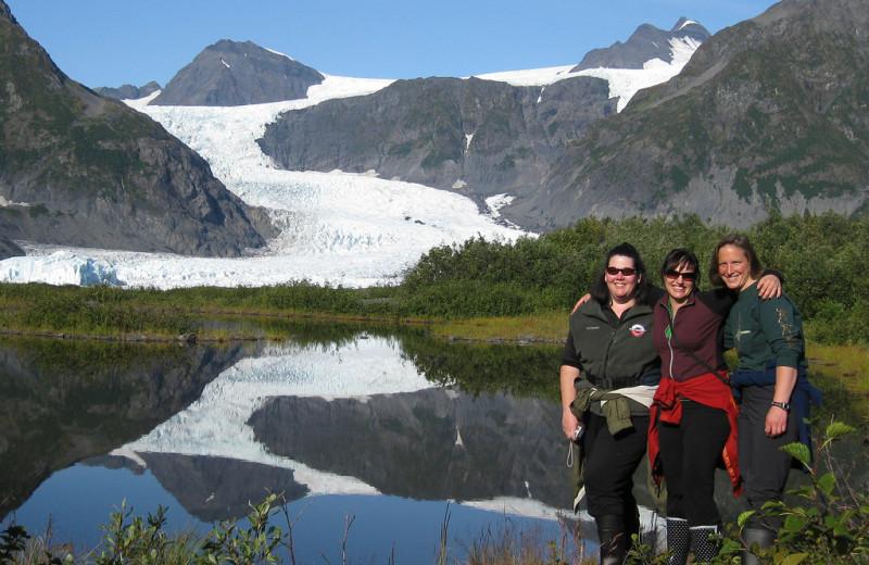 Group at Kenai Fjords Glacier Lodge.