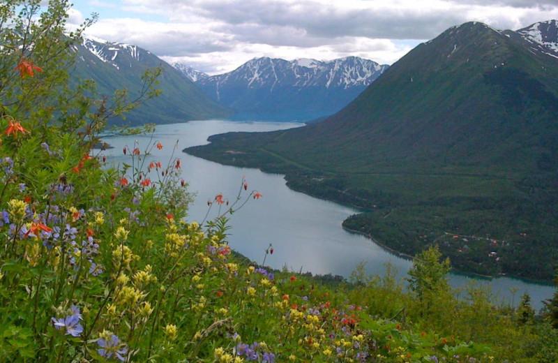 Mountains at Alaska Heavenly Lodge.