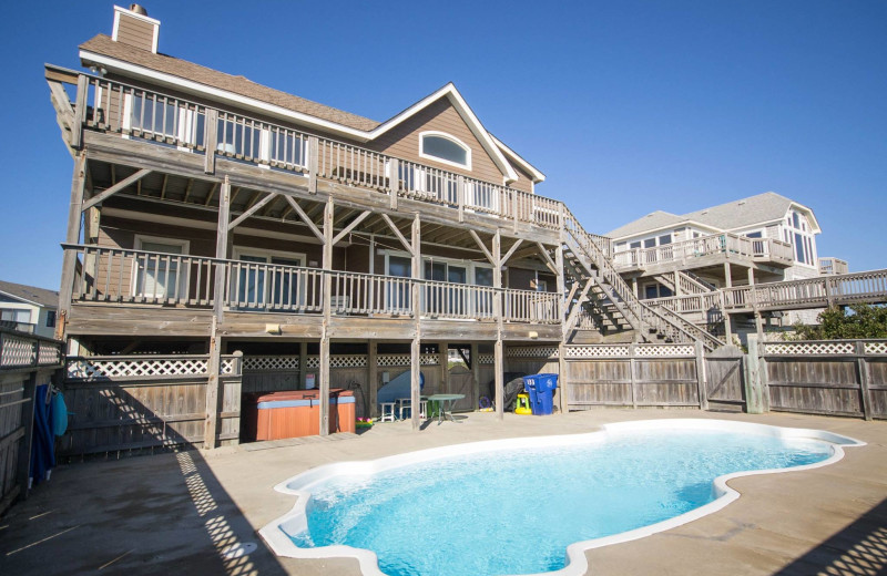 Rental pool at Beach Realty & Construction.