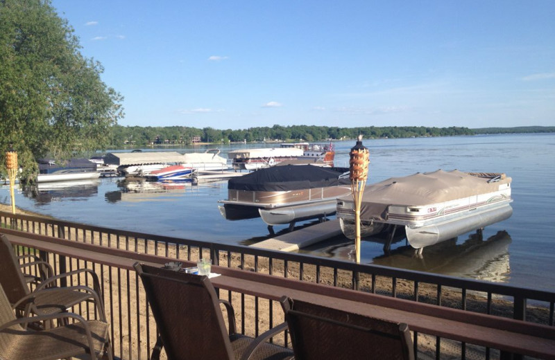 Porch view of Detroit Lakes at Holiday Inn Detroit Lakes.