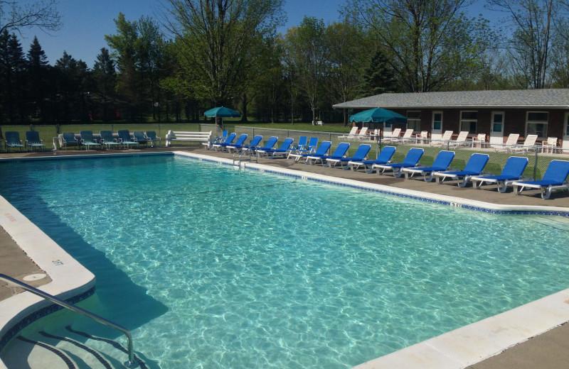 Outdoor pool at Lukan's Farm Resort.