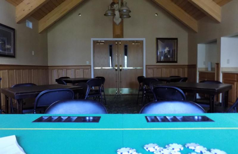 Game room at Garland Lodge and Resort.