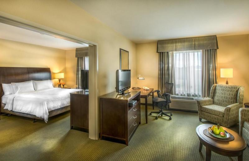 Guest room at Hilton Garden Inn Phoenix North Happy Valley.