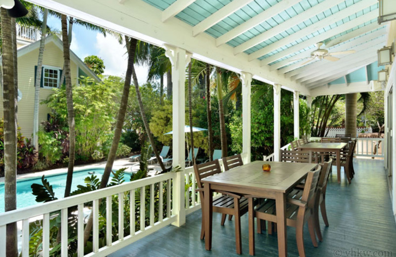 Rental porch at Vacation Homes of Key West.