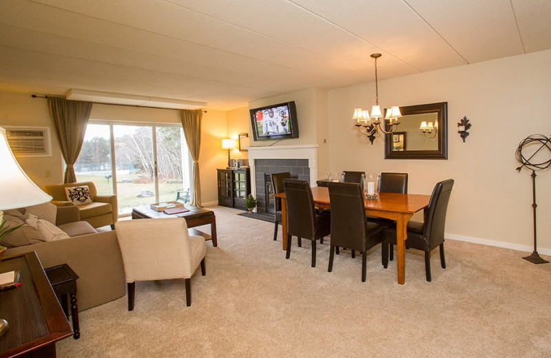 Rental living room at Stowe Vacation Rentals & Property.