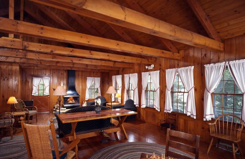 Marcy Cottage living room at Elk Lake Lodge.