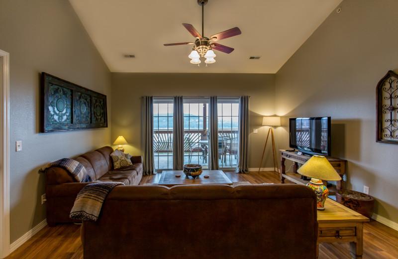 Guest living room at Rockwood Resort.