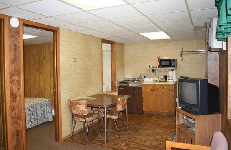 Suite interior at Popp's Resort.