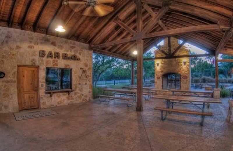 Picnic pavilion at Lake Travis & Co.
