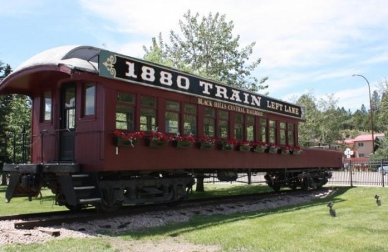 Rail car at The Lantern Inn.